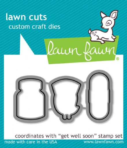 LF0683 S ~ GET WELL SOON ~ DIES BY LAWN FAWN